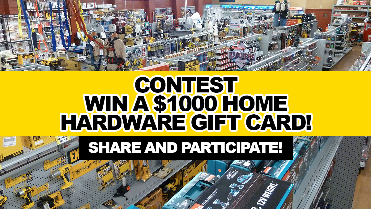 Contest win a 1000 home hardware gift card for Win a home contest