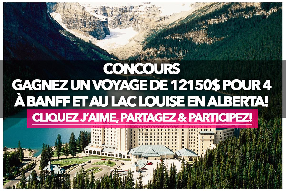 Contest: Win a $12150 trip for 4 to Banff and Lake Louise in Alberta!