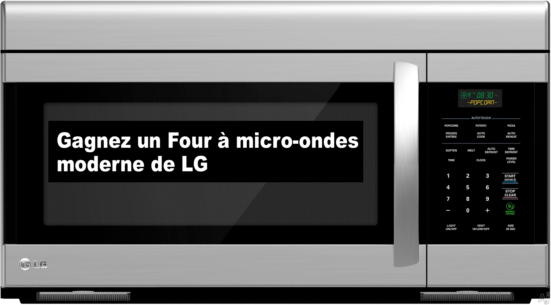 gagnez un four micro ondes avec hotte int gr e de lg. Black Bedroom Furniture Sets. Home Design Ideas