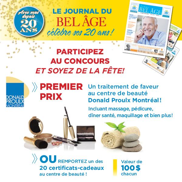 Concours le Journal du Bel Âge célèbre ses 20 ans! | Le Bel Âge