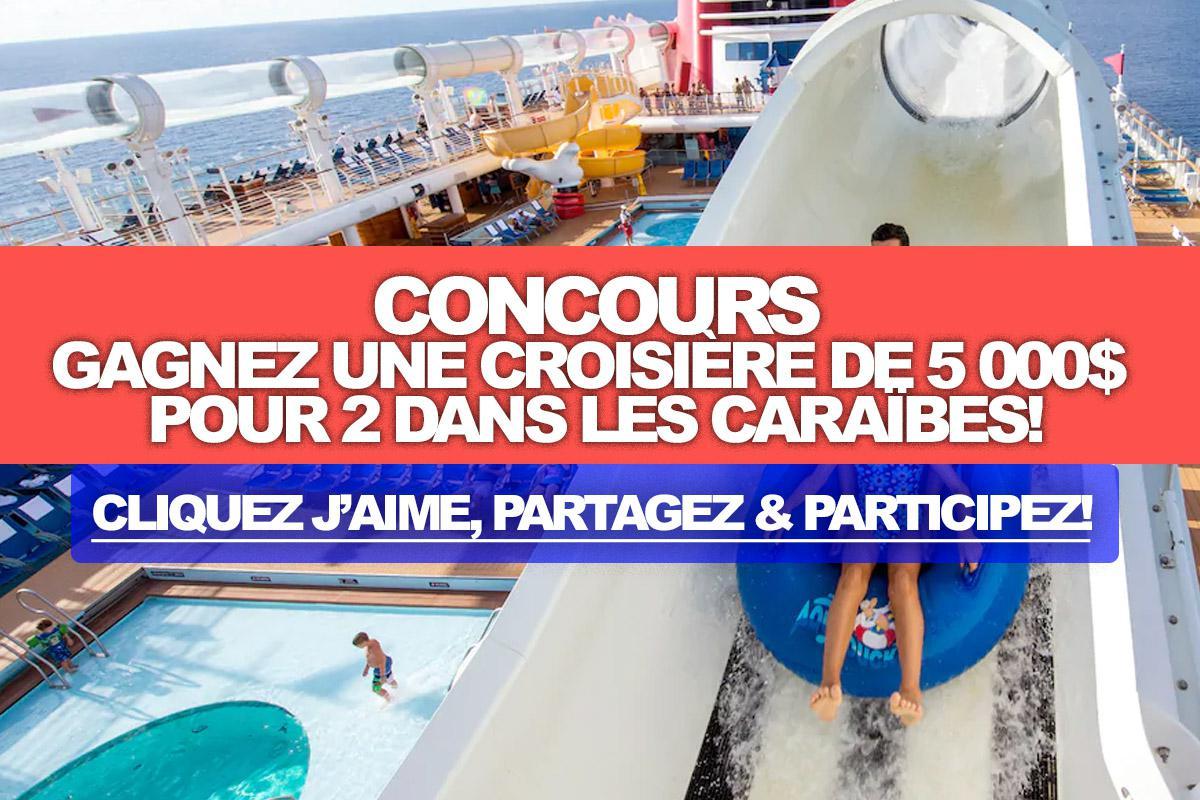 """Concours: Gagnez une croisière pour 2 dans les Caraïbes d""""une valeur de 5 000$!"""