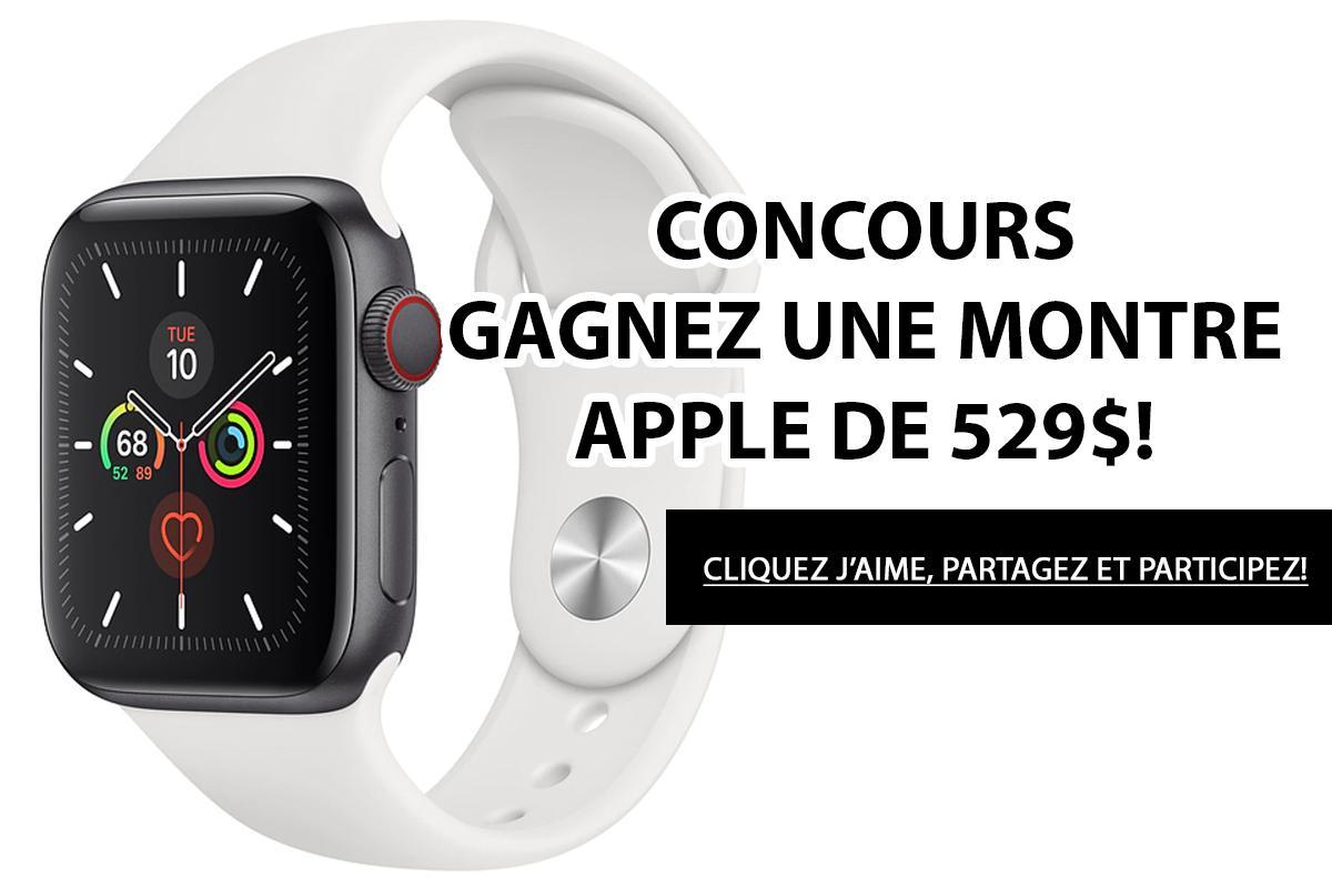 Concours: Gagnez une montre Apple d'une valeur de 529$!
