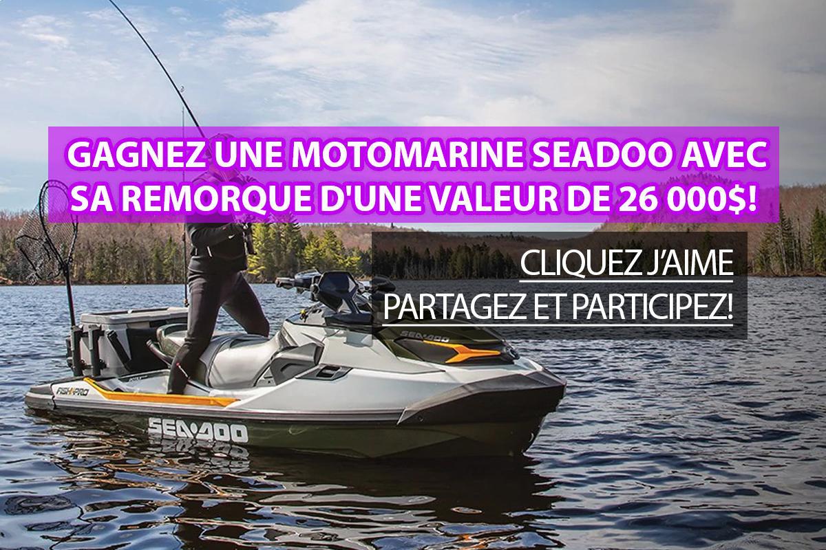 Concours: Gagnez une motomarine Seadoo avec sa remorque d'une valeur de 26 000$!