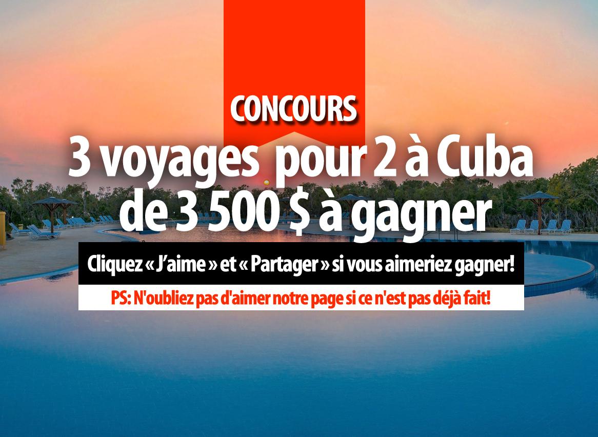 concours rouge fm 3 voyage pour 2 cuba de 3 500 gagner aimez notre page. Black Bedroom Furniture Sets. Home Design Ideas