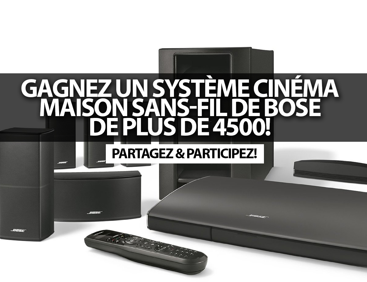 concours gagnez un syst me cin ma maison sans fil de. Black Bedroom Furniture Sets. Home Design Ideas