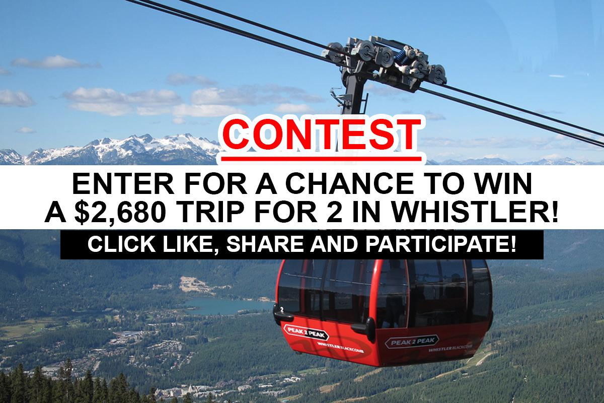 win a sweepstakes contest win a 2 680 trip for 2 in whistler british 8503