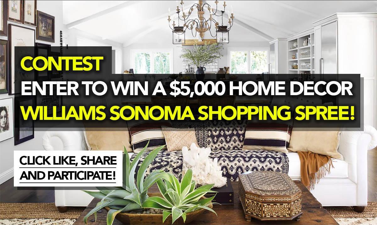 Contest Enter To Win A 5 000 Home Decor Williams Sonoma Home Decorators Catalog Best Ideas of Home Decor and Design [homedecoratorscatalog.us]