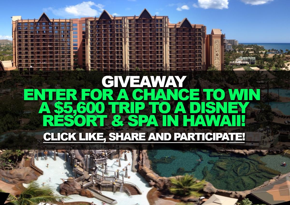 disney hawaii sweepstakes giveaway enter for a chance to win a 5 600 trip to a 3947