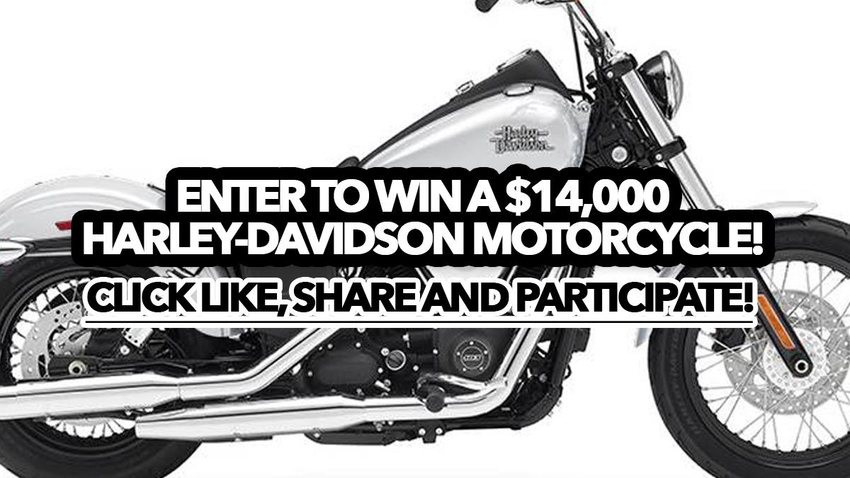 Sweepstakes: Enter to win a $14,000 Harley-Davidson motorcycle!
