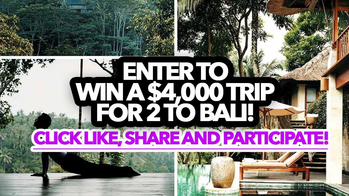 Contest: Win a $4,000 trip for 2 to Bali!