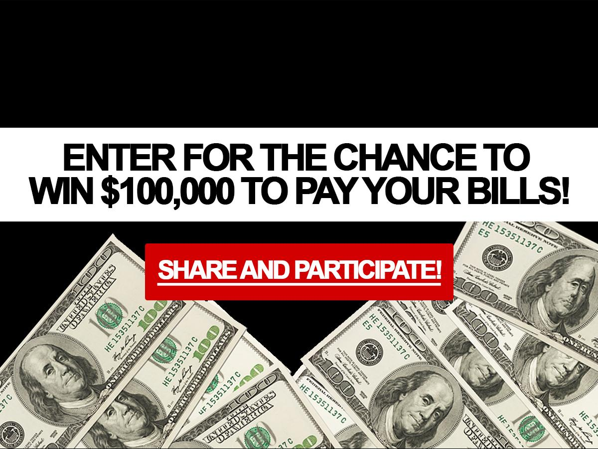 Contest : Win a cheque for $100,000!