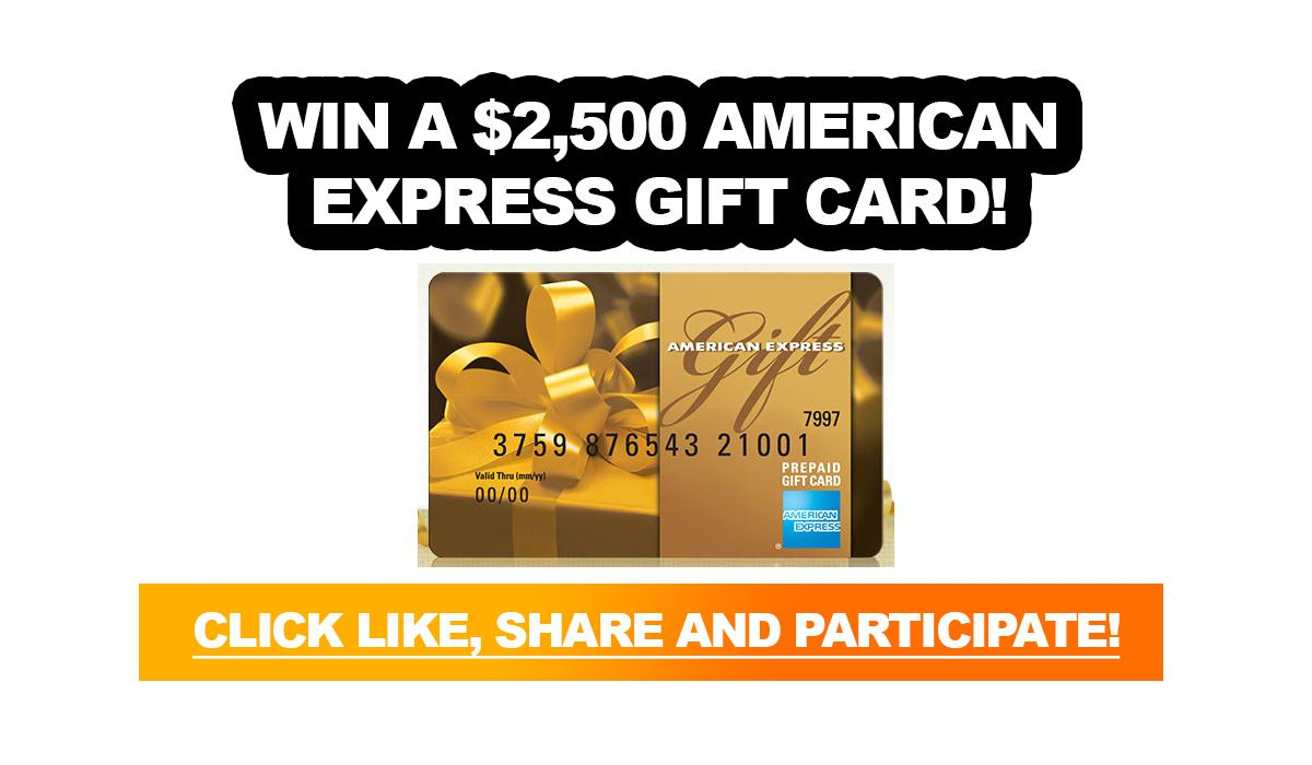 Contest: Win a $2,500 American Express gift card!