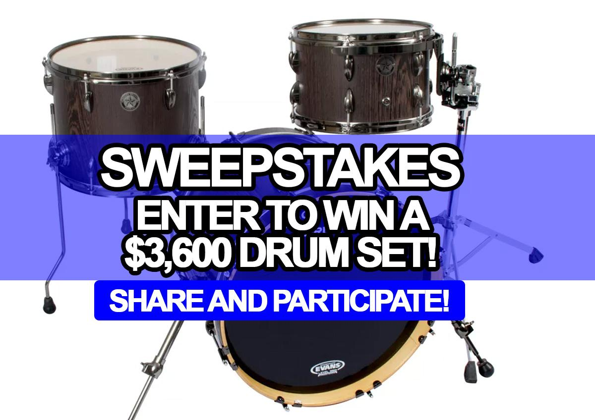 win a sweepstakes sweepstakes enter to win a 3 600 drum set 602