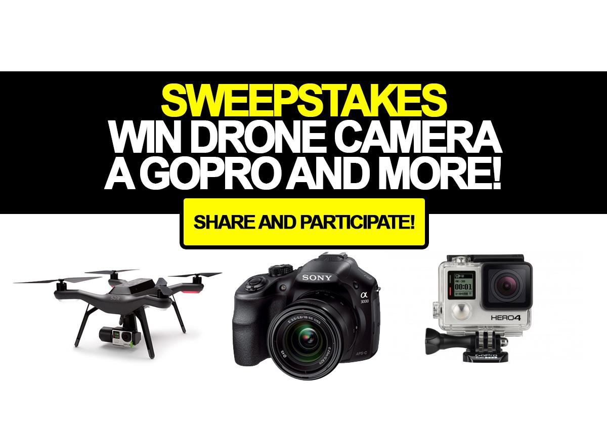 gopro sweepstakes contest win drone camera a gopro and more 4788